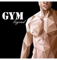 with caucasian or asian man muscle body in vector image