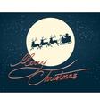 Santa on a Sledges vector image