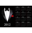 suite calendar 2012 vector image vector image