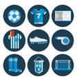 Soccer flat icon set vector image