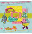 Scrapbook Design Elements - Baby Arrival Set vector image