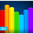 Bright rainbow colors plastic tubes equalizer vector image