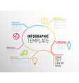 Modern Infographic report template made from lines vector image