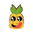 pineapple expressions hungry face vector image