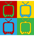 Pop art TV icons vector image