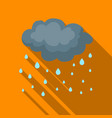 rain icon in flate style isolated on white vector image