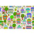 seamless cute homes vector image