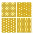 Set of seamless trendy modern spot patterns vector image