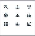 set of simple training icons vector image