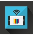 smartphone tv internet wifi icon vector image