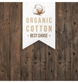 Organic cotton label with type design vector image