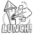 Lunch vector image vector image