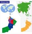 Oman map vector image vector image