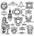 sketch calligraphic drawing of heraldic design vector image