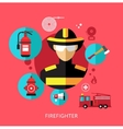 Set Flat Icons with Man of Different Professions vector image