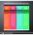 Modern business infographics with text vector image