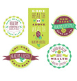 Set of Healthy Lifestyle Labels and Signs With vector image