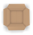Recycle brown box vector image