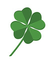 Green clover leaf vector image