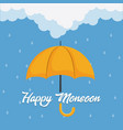 happy monsoon design vector image