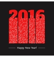 New year text design vector image