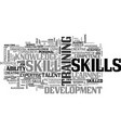 skill word cloud concept vector image