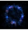 Sky galaxy stars nebula circle vector image