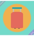 Suitcase for travel icon - vector image