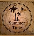 summer holidays logo vector image