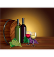 wine barrel background vector image