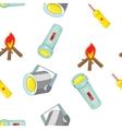 Equipment of light pattern cartoon style vector image