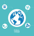 worldwide call center location support vector image
