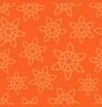 oriental ornament on orange background vector image