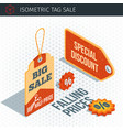 isometric sale labels vector image vector image