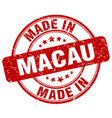 made in macau red grunge round stamp vector image