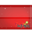 Background of Christmas Balls Decoration vector image