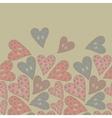 Polka dots hearts seamless pattern vector image