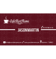 Cafe bar business card red vector image vector image