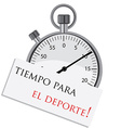 Stopwatch with spanish text vector image