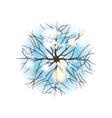 winter tree top view vector image vector image