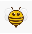 Character little bee vector image