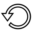 Rotate Outline Icon vector image