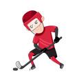 boy ice hockey player in sport uniform vector image