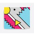 Colorful Pop art pattern vector image