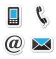 Contact web and internet icons set vector image