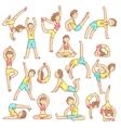 Couple Doing Yoga Poses vector image