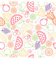 fruit pattern in contours vector image