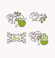 linear set of logos olive oil vector image