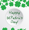 St Patric day pattern with green clover leafs vector image