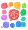 Watercolor Speech Bubbles Set vector image